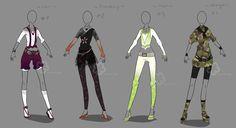 Some Outfit Adopts - sold by Nahemii-san.deviantart.com on @deviantART