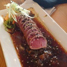 Tiradito de atún #tuna #seafood #saturday  #mid #foodporn #tataki by hebertaguilera