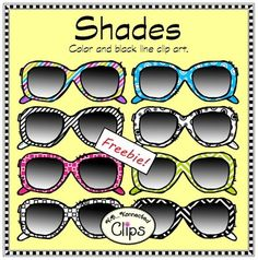 "Fun doodle sunglasses! Includes 4 color and 4 line art images!Commercial use welcome on products and freebies. Just give credit as stated in TOU. Thanks!!!You may also like...DoodlebotsBottle Cap Bonanza - (letters, numbers & blanks)School Doodles - ClipArtDoodle Banners""Shades - Clip art Freebie!"" by Kb...Konnected is licensed under a Creative Commons Attribution-NoDerivs 3.0 Unported License.Based on a work at www.kbkonnected2.blogspot.com.Permissions beyond the scope of this license may…"