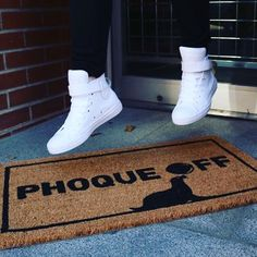 Make your guests feel (un)welcome with this funny outdoor welcome mat. How cute is that little seal? Phoque off! Coir, Seal, Outdoor, Seals, House, Outdoors, Harbor Seal, Outdoor Games