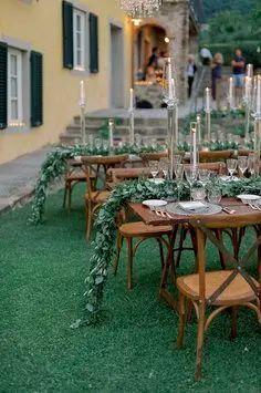 Glam outdoor wedding details Outdoor Wedding Reception, Outdoor Weddings, Real Weddings, Italy Wedding, Our Wedding, Grandma Birthday, High School Sweethearts, Ceremony Arch, We Fall In Love