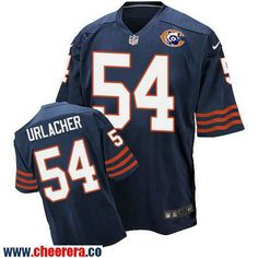 mens chicago bears 54 brian urlacher navy blue throwback stitched nfl nike elite jersey