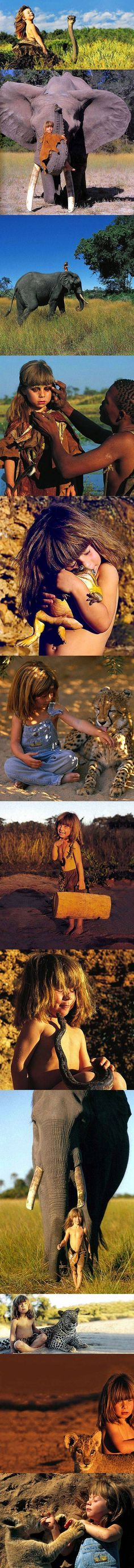 Photographers Capture Real Mowgli, a Little Girl Who Grew Up with African Wildlife Nature Animals, Animals And Pets, Baby Animals, Cute Animals, Wild Animals, Beautiful Creatures, Animals Beautiful, Baby Zebra, Out Of Africa