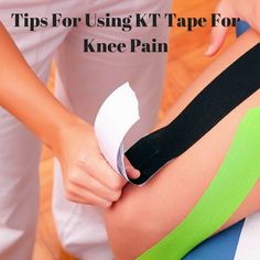 Does KT tape for knee pain really work? In our latest post we explain what KT tape is, how it works as well as what it can do for your knee pain. Kt Tape Knee, Knee Taping, Knee Arthritis, Rheumatoid Arthritis, Arthritis Remedies, Knee Meniscus, K Tape, Massage, Legs