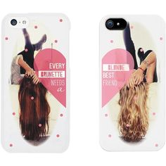 Every Brunette Needs a Blonde Best Friend BFF Phone Cases for iphone... (16 BRL) ❤ liked on Polyvore featuring accessories, tech accessories, phone cases, phone, cases, iphone cases, iphone cover case, apple iphone cases, iphone cell phone cases and galaxy iphone case