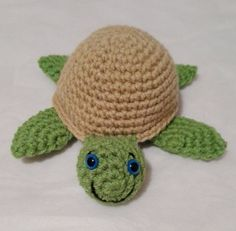 Easy Little Crochet Turtle Vinnie - Pattern by MadamLove on Etsy