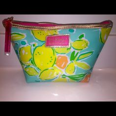 LILLY PULITZER FRUITY TOOTIE COSMETICS BAG  How perfect is this bag?! #THINKSPRING! Estée Lauder cosmetics bag featuring the ever famous LILLY Pulitzer! Plastic bag decorated with colorful fruits!  THIS BAG IS NEW!  FREE HOME!  TRADES &  OUTSIDE TRANSACTIONS - DON'T ASK! BUNDLE AND SAVE 20%!  Follow my closet ✋ NEW ITEMS ADDED DAILY! Posh compliant closet here! Happy POSHING ladies! ☀️ Lilly Pulitzer Bags Cosmetic Bags & Cases