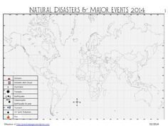 Current Affairs Natural Disasters & Major Events- listing of various news outlets for students to use.