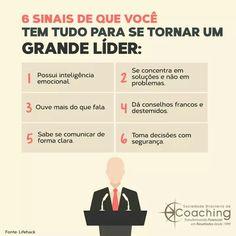 6 sinais de que você tem tudo para se tornar um grande líder