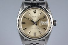 1971 Rolex DateJust 1601 Silver Dial