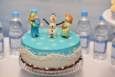 Cute cake at a Frozen birthday party! See more party ideas at CatchMyParty.com!
