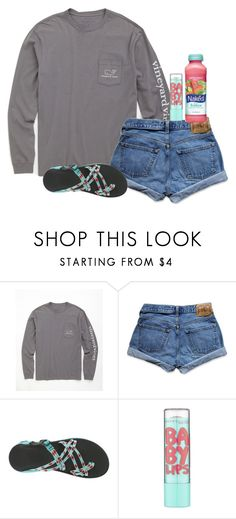 """"""";)))"""" by ellienoonan ❤ liked on Polyvore featuring Vineyard Vines, Abercrombie & Fitch, Chaco, Mangosteen and Maybelline"""