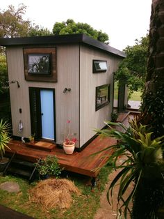 The exterior timber cladding from Weathertex is made from 98% recycled Australian hardwood mixed with paraffin wax.