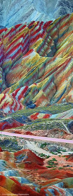 Rainbow Mountains In Chinau0027s Danxia Landform Geological Park Are - land form