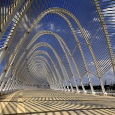 the Arch by Santiago Calatrava outside the Olympic Stadium, Athens, Greece