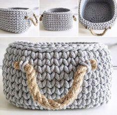 Rope - my new love ❤️ Crochet Lamp, Diy Crochet, Crochet Crafts, Loom Knitting, Knitting Patterns Free, Crochet Patterns, Knitting Projects, Crochet Projects, Crotchet Bags