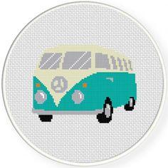 Classic Bus Cross Stitch Pattern