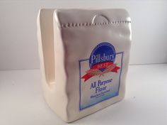 Vintage Pillsbury Flour Bag Napkin Holder by CrowsCollection on Etsy