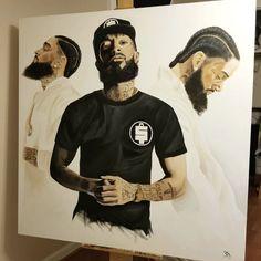 Angel Devil Tattoo, Lauren London Nipsey Hussle, Egypt Tattoo, Hip Hop World, Handsome Black Men, Hip Hop Art, Black Artwork, Pictures To Paint, Rare Photos
