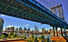 View From Under The Manhattan Bridge
