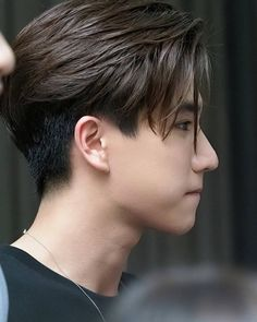 Mens Hairstyles Pompadour, Tomboy Hairstyles, Cool Hairstyles For Men, Boys Long Hairstyles, Haircuts For Men, Hairstyles Haircuts, Asian Haircut, Asian Men Hairstyle, Short Fade Haircut
