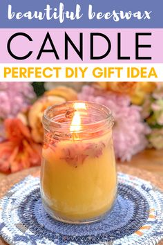 Make your own organic beeswax candles in 15 minutes. Only 3 ingredientes beeswax candle receipe. Check out the candle DIY video tutorial too. Buy Candles, Mason Jar Candles, Beeswax Candles, Scented Candles, Baby Food Containers, Organic Candles, Homemade Candles, Do It Yourself Crafts, Eclectic Decor