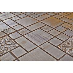 Eden Mosaic Tile Modern Cobble Pattern Copper Mosaic Tile - EMT_MM26-COP-AT