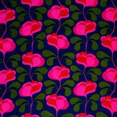 modflowers: vintage Finnish fabric designed by Juhani Konttinen, 1964-66