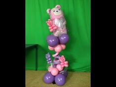 How To Make a Super Cute Baby Shower Balloon Centerpiece - YouTube