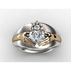 Claddagh Custom Diamond Engagement Ring Fine Jewelry Setting (without center)
