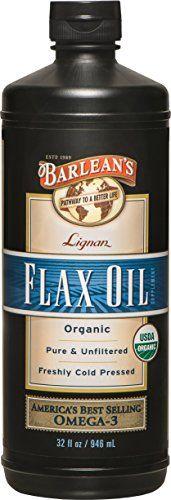 Barlean's Organic Oils Lignan Flax Oil, 32-Ounce Bottle >>> Click image for more details.