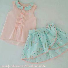 Matching skirt and shirt