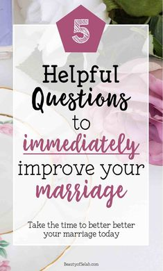 Ever wonder how to improve your marriage? Asking these questions can dramatically improve your marriage. Take the time to ask these 5 questions and see your marriage change for the better. Godly Marriage, Healthy Marriage, Save My Marriage, Marriage Relationship, Happy Marriage, Marriage Advice, Love And Marriage, Healthy Relationships, Broken Marriage