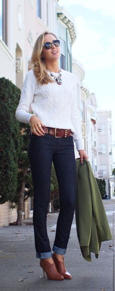 . sweater and booties .