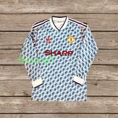 08d6706fa Manchester United 1990-1992 SHARP Away Soccer Jersey Football Shirt S M L XL  CONDITION   USED