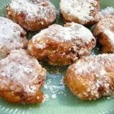 Ever have extra apples on hand and wonder what to do with them? You're bored with apple pie, apple salad, etc. How about some apple fritters? A welcome change from the same ol', same ol'. Recipe: Paula Deen Photo: southernplate.com