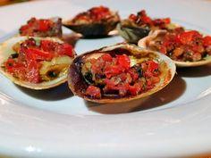 Palourdes farcies au jambon et à la tomate