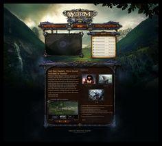 wurm-fantasy-game-website-design.jpg (2225×2011)