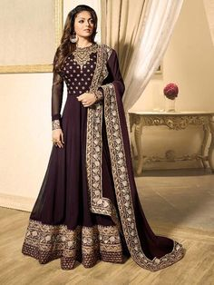 Hot Wedding Wear Long Designer Anarkali Shalwar Kameez Suit Top :- Faux GeorgetteBottom :- Santoon Inner :- SantoonDupatta :- nazminWrok :- Faux Georgette With EmbroidryLength :- Max up to :- Max up to :- Semi Stitched Abaya Fashion, Ethnic Fashion, Indian Fashion, Fashion Dresses, Indian Gowns, Pakistani Dresses, Indian Outfits, Indian Long Dress, Pakistani Clothing