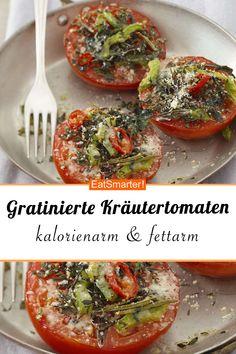 Gratinierte Kräutertomaten - New Site Vegan Thanksgiving, Thanksgiving Appetizers, Vegan Appetizers, Appetizer Recipes, Thanksgiving Drinks, Vegetarian Recipes, Healthy Recipes, Veggie Tray, Grilled Vegetables