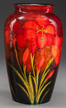 WILLIAM MOORCROFT POTTERY Tiger Lily Vase, circa 1930.