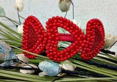 Tiara Coração Vermelha
