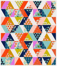 """You don't have to be a quilter for very long to start accruing scraps of fabric. A little snip here, a slice there, and pretty soon a pile forms...and grows...and grows. My scraps can be as small as a 2"""" x 2"""" print that I've grown particularly fond of and can't seem to throw away. …"""