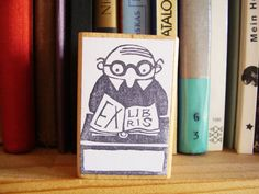 Ex libris stamp by alinear on Etsy