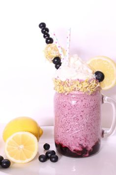 Outrageous blueberry lemon smoothie! So refreshing!! Check it out at Perfectlywhimsical.com