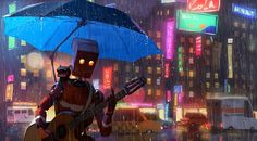 Singing In The Rain by GorosArt (Goro Fujita)