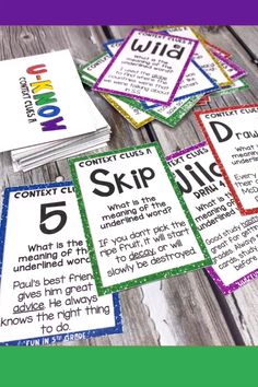 Context Clues U-Know game is perfect engaging activity to review vocabulary!  3, 4, 5 & 6th graders will WANT to review context clues with this game that works great for literacy centers, small groups & early finishers!  Reviews definition, antonym, synonym, example and inferences.