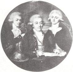 Кн. Василия Борисовича Голицына с сыновьями Борисом (справа) и Дмитрием. 1798-1799 гг.