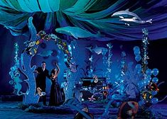 balloon bubbles Under The Sea Theme, Under The Sea Party, Prom Themes, Dance Themes, Deep Blue, Deep Sea, Party Streamers, Ceiling Streamers, Ceiling Draping