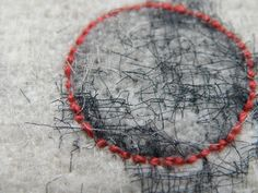 Red Linen Stitch / Dionne Swift